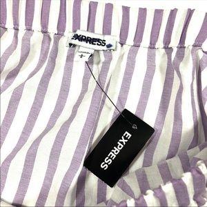 Express Tops - NWT Express Purple Stripe Off Shoulder Balloon Top
